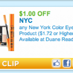 $1/1 NYC make-up printable = make-up for under $1 at Target and Walmart!