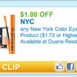 $1/1 NYC make-up printable = make-up for under $1 at Target and Walmart!