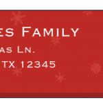 Vistaprint:  Free holiday address labels or gift tags!