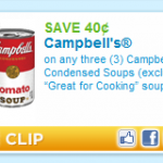 New printable coupons:  Campbell's soup and Spaghetti-Os!