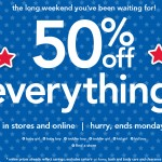 Carter's:  50% off EVERYTHING plus 20% off and 4% cash back!