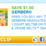 Gerber Graduates Yogurt Melts only $1.61 after coupon at Target!