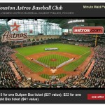 Houston Readers:  Astros tickets for as low as $15! (50% off!)