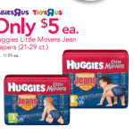 **HOT:  Huggies jean diapers as low as $3 at Babies 'R Us!