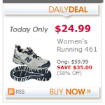 Women's New Balance running shoes:  $24.99 + 4% cash back!