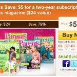 Get a two year subscription to Parent's Magazine for as low as $2!
