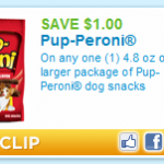 Pup-Peroni dog treats $1.48 after coupon!