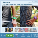 Savemore:  Two slap watches as low as $3 + free shipping!