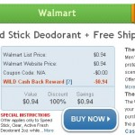 WILD DEAL:  Get free Speedstick deodorant after cash back + FREE shipping!