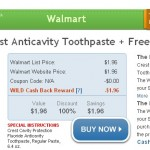 WILD DEAL:  Get Crest toothpaste for FREE after cash back + FREE shipping!