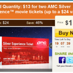 AMC Movie Tickets as low as $5 each!
