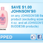 Printable coupon alert:  $1/1 Johnson's baby coupon!