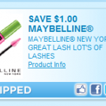 Maybelline Great Lash Mascara only $3.24 after coupon at Walmart!