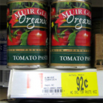 Muir Glen tomato paste only $.17 after coupon!