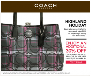 Coach coupons 100 off 300