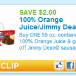 PRINTABLE COUPON ALERT:  $2 off OJ and Jimmy Dean sausage!