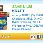 Printable Coupon Alert:  $1.25/3 Kraft baking coupon!