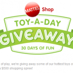 Mattel Toy A Day Giveaway + 25% off coupon + cash back!