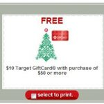 Target:  Spend $50, get a $10 gift card offer!