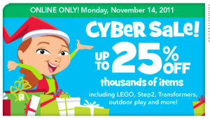 toys r us cyber monday sale hot deals on thousands of items. Black Bedroom Furniture Sets. Home Design Ideas