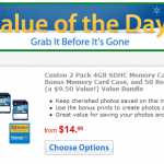 Walmart Value of the Day:  Centon 2 pack 4 GB SDHC Memory Card Bundle – $14