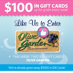 Woman Freebies:  Olive Garden gift cards, TGI Fridays, pet food, and more!
