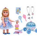 Disney Princess Party Time Play Set, Cinderella & Disney Princess Doll Pram Bundle only $29!