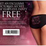 FREEBIE ALERT:  FREE Victoria's Secret panty with ANY purchase!