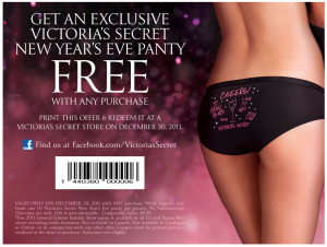 e65407b5cb8f FREEBIE ALERT: FREE Victoria's Secret panty with ANY purchase!