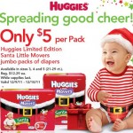 HOT DEAL ALERT:  Huggies Santa diapers as low as $3 each!