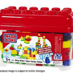 Mega Bloks value bucket and K'nex value tub only $10!