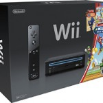 Nintendo Wii Console (Black) with New Super Mario Bros. Wii Game and Music CD + bonus game for $139.99 shipped ($200 value!)