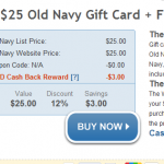 Old Navy:  Save up to 50% online and 75% in stores + $25 gift card for $22!
