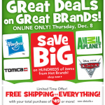 Toys 'R Us Online Only sale + bonus offers + 7% cash back!
