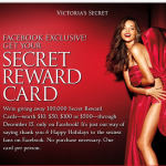 FREE Victoria's Secret Rewards Card ($10, $50, $100, or $500!)