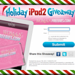 Woman Freebies:  Holiday iPad2 giveaway!