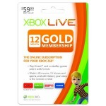 Microsoft XBox Live Gold One Year Membership for $38.99! (regularly $59.99)