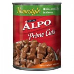 Alpo canned dog food $.35 per can at Pet Smart!