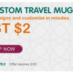 InkGarden:  Custom Travel Photo Mug for just $2!