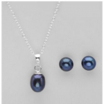 Cultured Freshwater Pearl Necklace & Earrings Set for as low as $6!