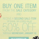 HOT:  Vera Bradley BOGO 50% off sale!
