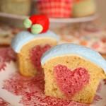 30 Days of Valentine's Fun: Hidden Heart Cupcakes