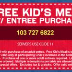 Chili's:  Kids Eat Free (2/21 and 2/22)