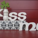 St. Patrick's Day Craft: Kiss Me Wood Art