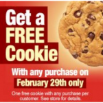 FREE Subway Cookie (today only)