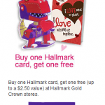 Hallmark:  BOGO free cards printable coupon!