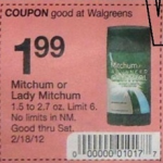 Print & Save:  Mitchum deodorant for $.99 after coupon at Walgreens!