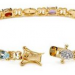 Ladies Designer Gold-Plated Silver Bracelet only $19 (89% off)