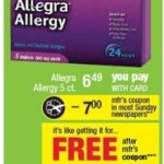 FREEBIE ALERT:  Free Allegra Allergy at CVS starting 4/1!