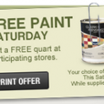 FREEBIE ALERT:  Free quart of Clark + Kensington Paint at Ace Hardware (today only)
